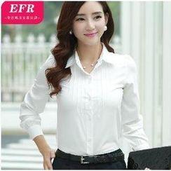 Eferu - Pintuck Chiffon Shirt