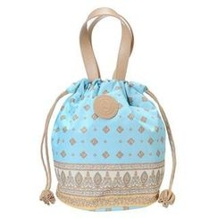 ans - Pattern Drawstring Handbag
