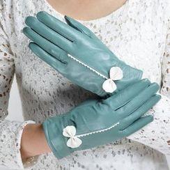 Glova - Bow Genuine Leather Gloves