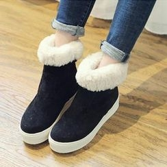 NANING9 - Fleeced-Line Ankle Boots