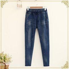 Fairyland - Paint Splattered Straight Leg Jeans