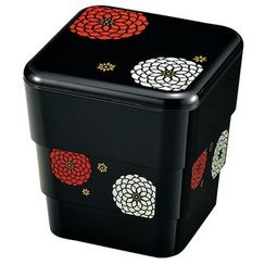 Hakoya - Hakoya 3 Layers Picnic Lunch Box Kuro Hyakka
