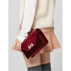 FROMBEGINNING - Velvet Shoulder Bag