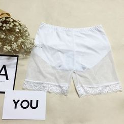 MISS YOYO - Lace Trim Undershorts