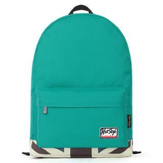Mr.ace Homme - Printed Panel Appliqué Nylon Backpack