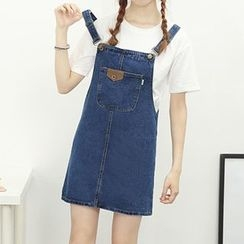Honey House - Denim Pinafore Dress
