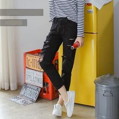 Denimot - 做旧直筒牛仔裤