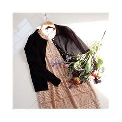 LEELIN - Short-Sleeve Lace Dress