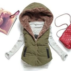 Heybabe - Fleece Lined Hooded Padded Vest