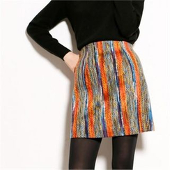 MAGJAY - Zip-Back Stitched Skirt