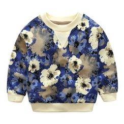 Seashells Kids - Kids Floral Print Pullover