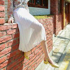 Seoul Fashion - Pleated Chiffon Midi Skirt
