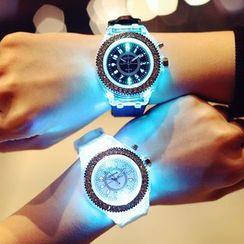 InShop Watches - Rhinestone LED Strap Watch