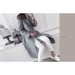 DAILY LOOK - Faux-Pearl Wool Blend Coat