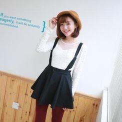 Ando Store - Suspender A-Line Skirt