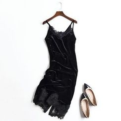 Neeya - 多带蕾丝边连衣裙