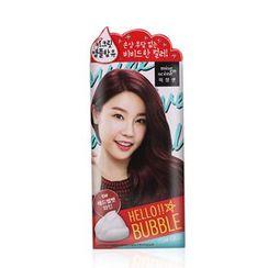 miseenscéne - Hello Bubble Foam Color (#5W Red Velvet Wine)