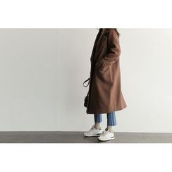 UPTOWNHOLIC - Double-Breasted Wool Blend Coat