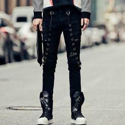 Bjorn - Hoop Accent Skinny Pants