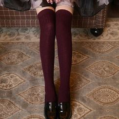 NECTARY - Cable Knit Knee High Socks