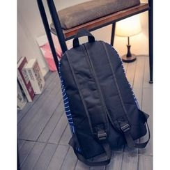 Aoba - Embroidered Striped Backpack