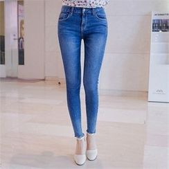 Babi n Pumkin - Fray-Hem Washed Skinny Jeans