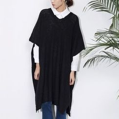 Sens Collection - V-Neck Knit Poncho