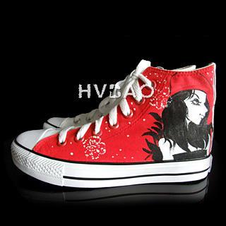 HVBAO - 'Looking Back' High-Top Canvas Sneakers