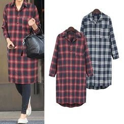 VIZZI - Plaid Long Shirt