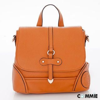 B.B. HOUSE - Convertible Faux-Leather Embossed Backpack