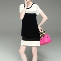 Alaroo - Colour Block Short-Sleeve Dress