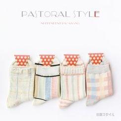 LIFEDIFF - Set of 4: Printed Socks