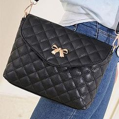 Ballerina Bags - Metal Bow Quilted Crossbody