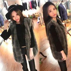 Trinie - Faux-Fur Vest