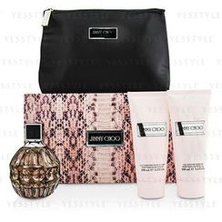 Jimmy Choo - Jimmy Choo Coffret: Eau De Parfum Spray 100ml/3.3oz + Body Lotion 100ml/3.3oz + Shower Gel 100ml/3.3oz +Pouch