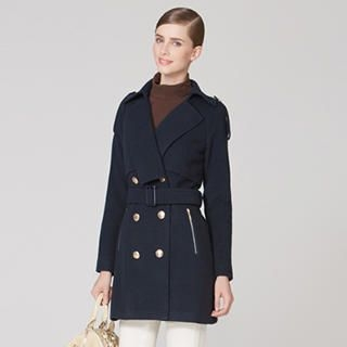 O.SA - Double-Breasted Belted Coat