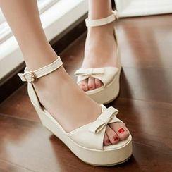 Sidewalk - Ankle Strap Platform Sandals