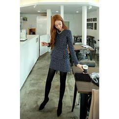 CHERRYKOKO - Set: Tweed Peplum Top + Skirt