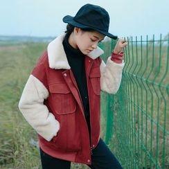 Hanayoshi - Faux-Suede Zip Coat