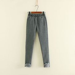 Mushi - Fleece-lined Tapered Pants