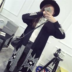 Polaris - Patterned Long Knit Jacket