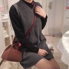 YUKISHU - Long Rib-Knit Vest