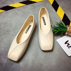 IYATO - 方头平底单鞋