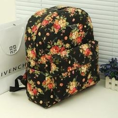 Miss Sweety - Floral Canvas Backpack