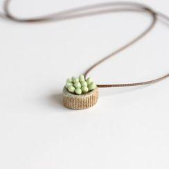 Porcelana - Ceramic Pendant Necklace