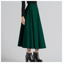 Sayumi - Woolen Midi Skirt