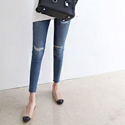DAILY LOOK - Distressed Skinny Jeans