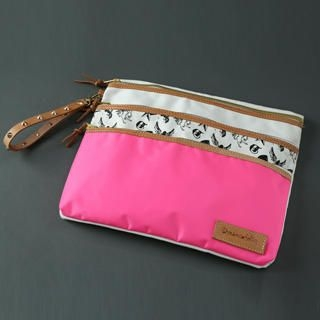 Dreamcoholic - Genuine Leather Trim Print Clutch