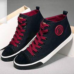 Renben - Faux Suede Toe Cap Sneakers