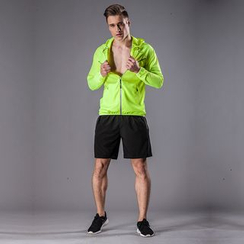 Accentum - Set: Hooded Zip Jacket + Sports Shorts